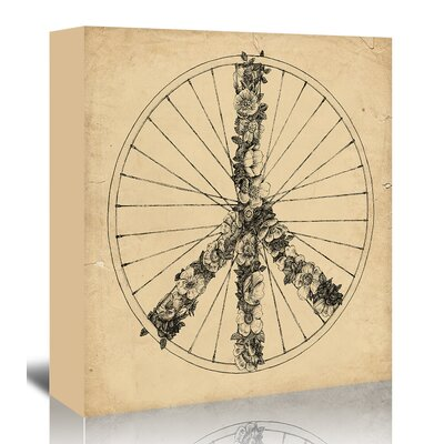 Americanflat 'Peace And Bike - Lines' by Florent Bodart Art Print