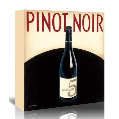 Americanflat 'Pinot Noir' by Marco Fabiano - Wild Apple Vintage Advertisement Wrapped on Canvas