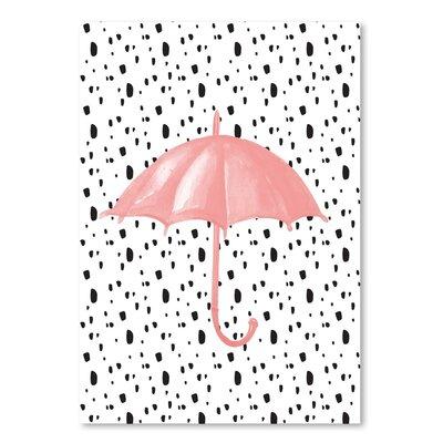 Americanflat 'Umbrella on Polka Dots' Graphic Art