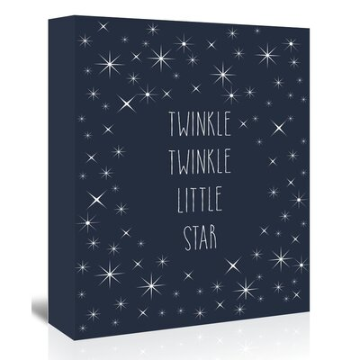Americanflat 'Twinkle Twinkle' Typography Wrapped on Canvas