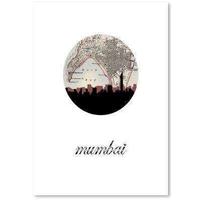 Americanflat 'Mumbai Map Skyline' by PaperFinch Graphic Art