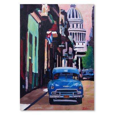 Americanflat 'Cuban Oldtimer Street Scene In Havanna Cuba With Buena Vista Feelinng' by M Bleichner Art Print