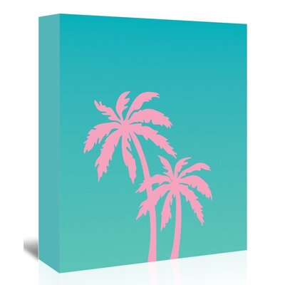 Americanflat 'Palm Tree' by Ashlee Rae Graphic Art Wrapped on Canvas