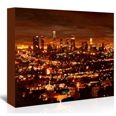 Americanflat City Of Angels - City Of Light - Los Angeles' by Markus Bleichner Art Print Wrapped on Canvas