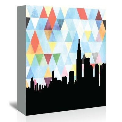 Americanflat 'Tokyo_Triangle' by PaperFinch Graphic Art Wrapped on Canvas