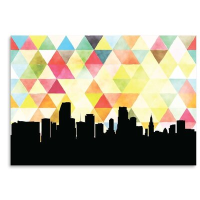 Americanflat 'Miami_Triangle' by PaperFinch Graphic Art