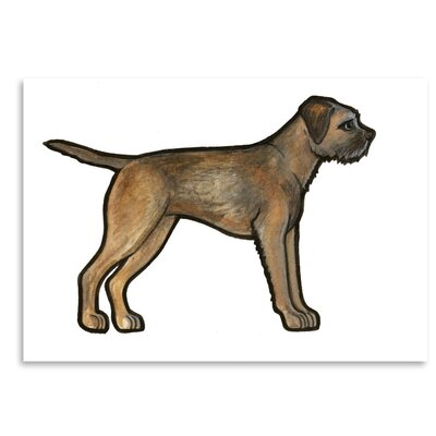 Americanflat 'Border Terrier' by Sally Pattrick Art Print