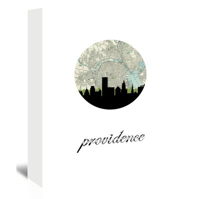 Americanflat 'Providence Map Skyline' by PaperFinch Graphic Art Wrapped on Canvas