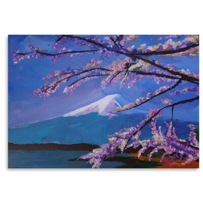 Americanflat Mount Fuji With Lake And Almond Blossom Time' by Markus Bleichner Art Print