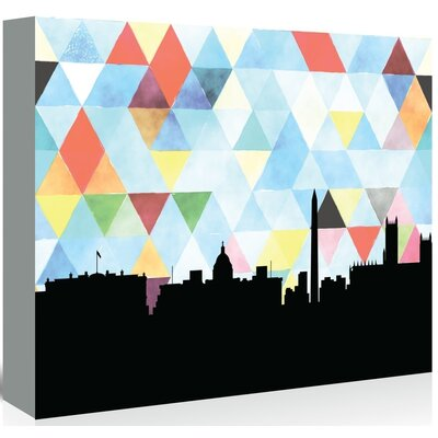 Americanflat 'WashingtonDC_Triangle' by PaperFinch Graphic Art Wrapped on Canvas