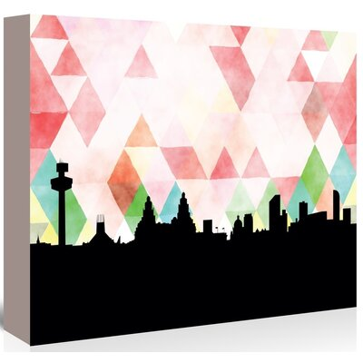 Americanflat 'Liverpool_Triangle' by PaperFinch Graphic Art Wrapped on Canvas