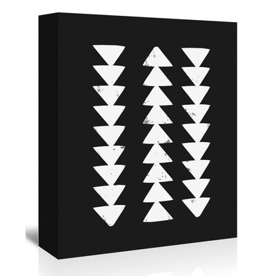 Americanflat 'Tribal_Arrows' The Glass Mountain Graphic Art Wrapped on Canvas
