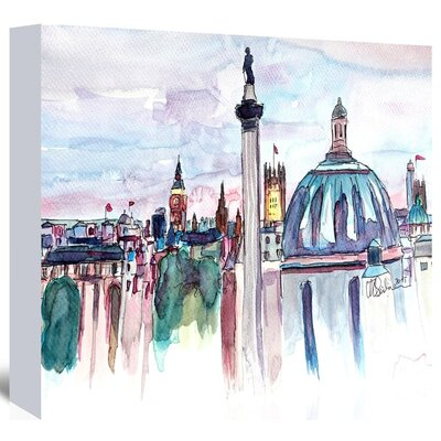 Americanflat London Skyline With Big Ben And Nelson' by Markus Bleichner Art Print Wrapped on Canvas