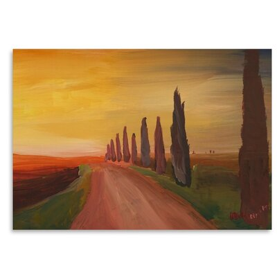 Americanflat Country Road In Tuscany Italy At Sunset' by Markus Bleichner Art Print