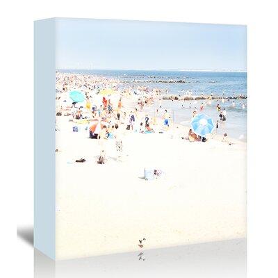 Americanflat 'Blue-Beach' by Mina Teslaru Photographic Print