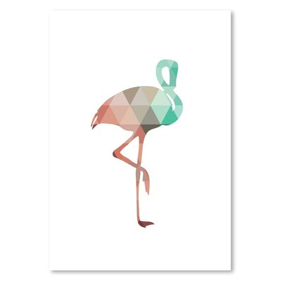 Americanflat 'Mint Coral Flamingo Up To' by Melinda Wood Graphic Art