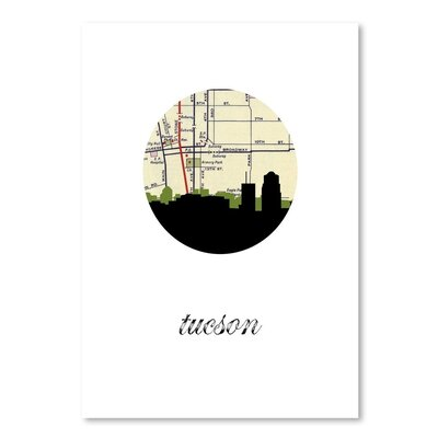 Americanflat 'Tucson Map Skyline' by PaperFinch Graphic Art