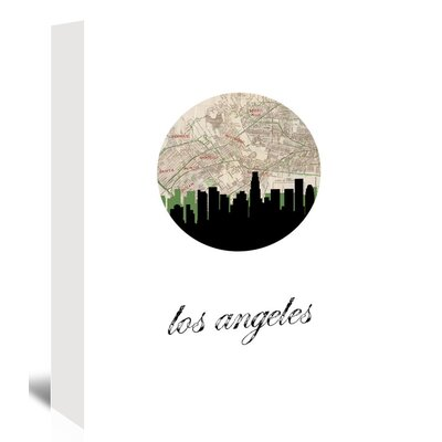 Americanflat 'Los Angeles Map Skyline' by PaperFinch Graphic Art Wrapped on Canvas
