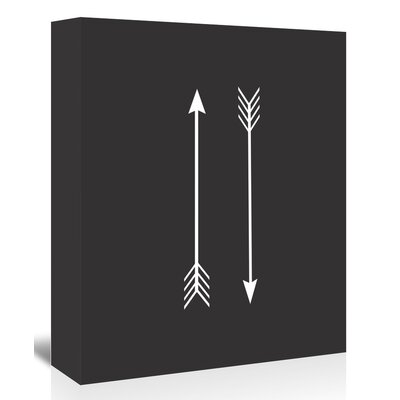 Americanflat 'Two Arrows Up To' by Melinda Wood Graphic Art Wrapped on Canvas