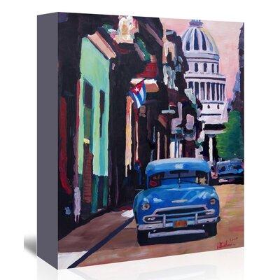 Americanflat 'Cuban Oldtimer Street Scene In Havanna Cuba With Buena Vista Feelinng' by M Bleichner Art Print Wrapped on Canvas