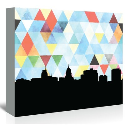 Americanflat 'Madison_Triangle' by PaperFinch Graphic Art Wrapped on Canvas