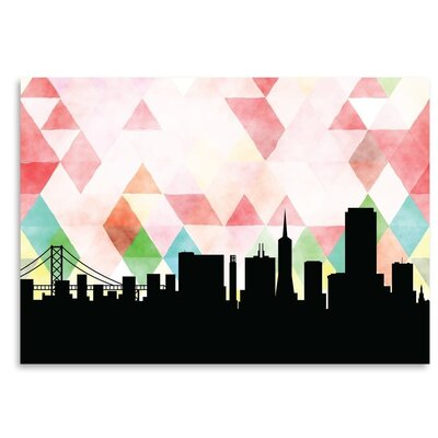 Americanflat 'SanFrancisco_Triangle' by PaperFinch Graphic Art