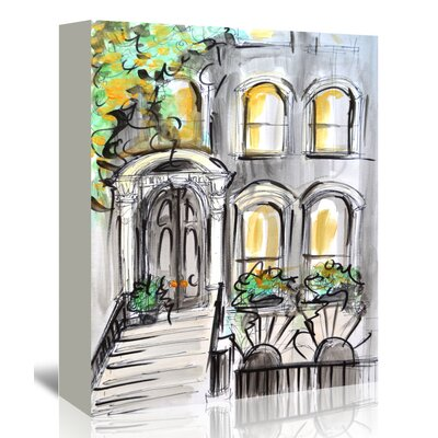 Americanflat 'Curb Appeal' by Cara Francis Art Print Wrapped on Canvas