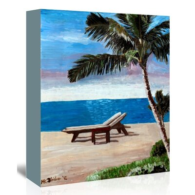 Americanflat 'Strand Chairs On Caribbean Beach Or' by M Bleichner Art Print Wrapped on Canvas