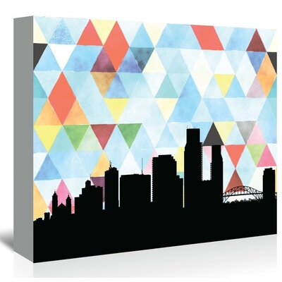 Americanflat 'CorpusChristi_Triangle' by PaperFinch Graphic Art Wrapped on Canvas