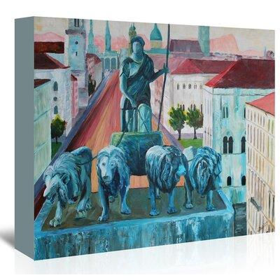 Americanflat 'Munchen Siegestor' by M Bleichner Art Print Wrapped on Canvas
