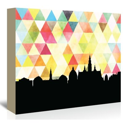 Americanflat 'Copenhagen_Triangle' by Paper Finch Graphic Art Wrapped on Canvas