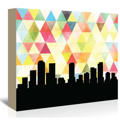 Americanflat 'Denver_Triangle' by PaperFinch Graphic Art Wrapped on Canvas