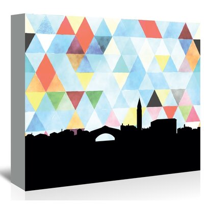 Americanflat 'Venice_Triangle' by PaperFinch Graphic Art Wrapped on Canvas