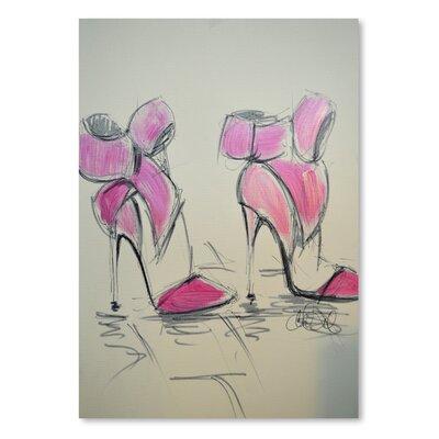 Americanflat 'Pink Bows' by Cara Francis Art Print