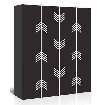 Americanflat 'Three Tribal Arrows Up To' by Melinda Wood Graphic Art Wrapped on Canvas