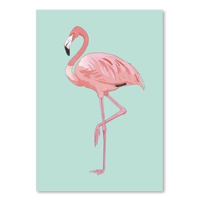 Americanflat 'Pink Flamingo' Art Print