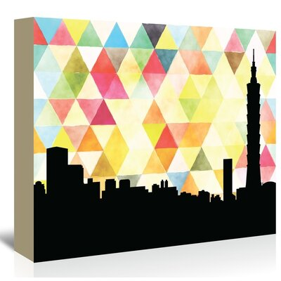 Americanflat 'Taipei_Triangle' by PaperFinch Graphic Art Wrapped on Canvas