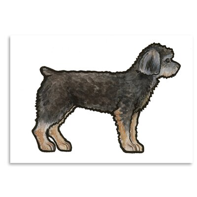 Americanflat 'Yorkie Clipped' by Sally Pattrick Art Print