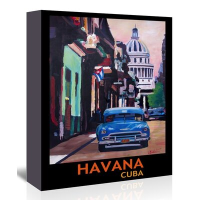Americanflat 'Cuban Oldtimer Street Scene In Havanna Cuba With Buena Vista Feeling Poster 1' by M Bleichner Art Print Wrapped on Canvas