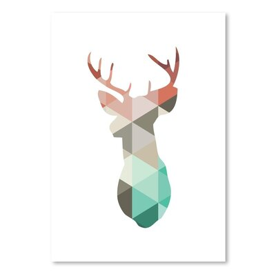 Americanflat 'Spring Deer Up To' by Melinda Wood Graphic Art