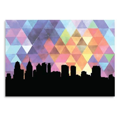 Americanflat 'Philadelphia Triangle' by PaperFinch Graphic Art