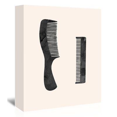 Americanflat 'Combs' Graphic Art Wrapped on Canvas