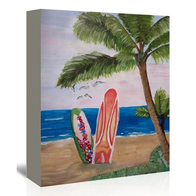 Americanflat 'Surfboardsbeach' by M Bleichner Art Print Wrapped on Canvas