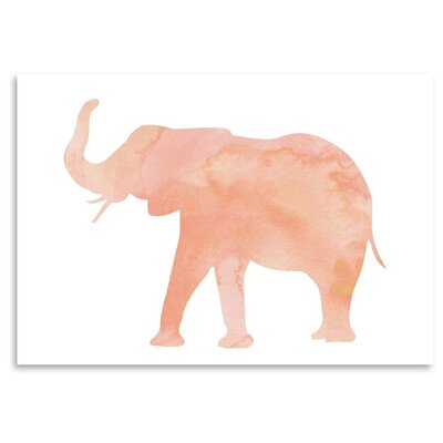 Americanflat 'Coral Elephant' Graphic Art