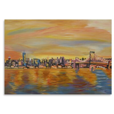 Americanflat 'New York City Skyline - Leinwand' by M Bleichner Art Print