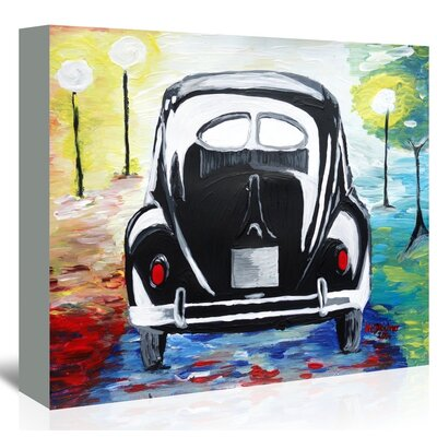 Americanflat 'Vw Bug Split Window' by M Bleichner Art Print Wrapped on Canvas