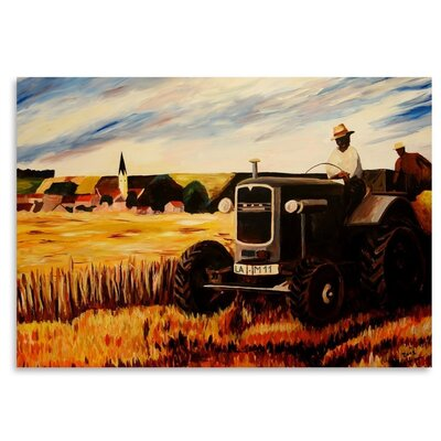 Americanflat 'The Farmer' by M Bleichner Art Print