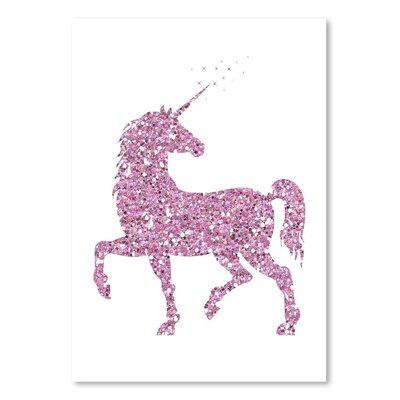 Americanflat 'Pink Glitter Unicorn' Graphic Art