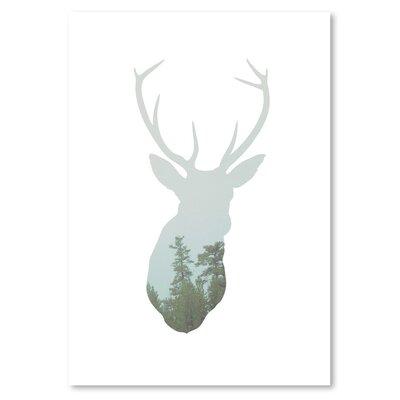 Americanflat 'Deer Trees Up To' by Melinda Wood Art Print