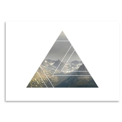 Americanflat 'Mountains Triangles' by The Glass Mountain Graphic Art